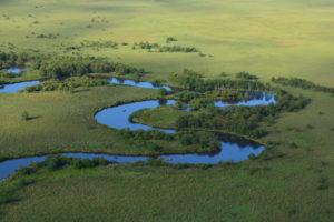 釧路湿原上空写真