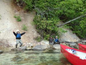 屈斜路湖の源泉までカヌーで行く