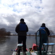 春の釧路湿原カヌーでアメマス釣り